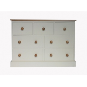 Portchester Pine Painted with Oak Tops 7 Drawer Jumper Chest  www.easyfurn.co.uk