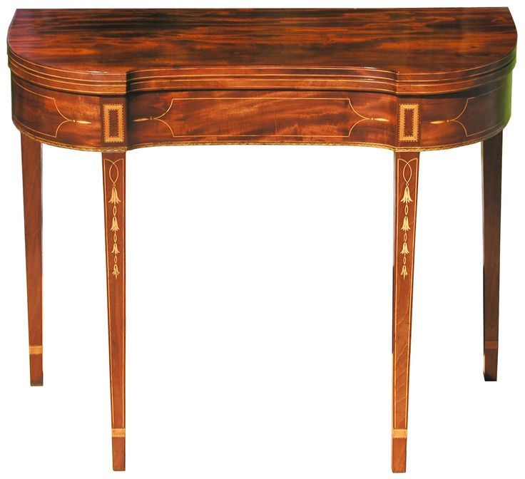 A Federal Inlaid Mahogany Card Table; Baltimore, C.1790; The U201choneysuckle