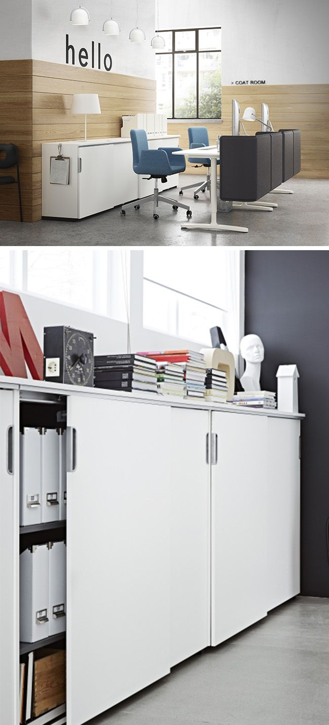 From your business to your home office, the IKEA GALANT storage system can help keep you organized! Electronics, papers and other supplies are easily stored away.