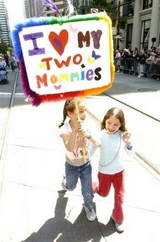 """I <3 my two mommies."""