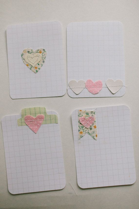 4 pack of Valentines Hearts Embellished by lovelindseyhandmade, $3.50