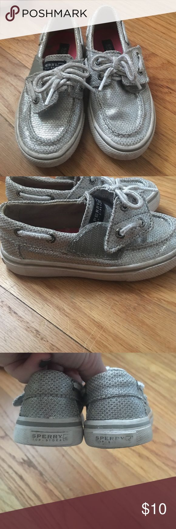 Girls Sperry Silver little girl's Sperry shoes Sperry Top-Sider Shoes Sneakers