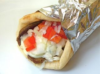 ** Donair Recipe **   Delicious recipe!!  (I like a thick sauce made with 1 can (14oz) condensed milk, 1/2 vinegar, 1 tsp garlic powder)