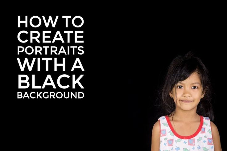 Follow the steps in this article to create dramatic portraits with a pure black background.