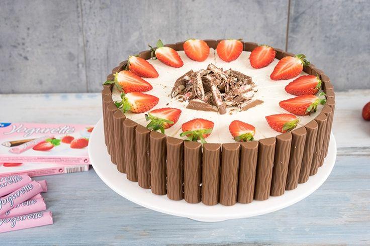 Joghurette Torte mit Erdbeeren
