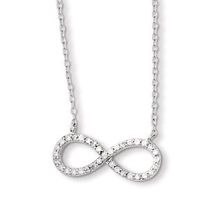 35 best infinity necklaces images on pinterest infinity necklace infinity pendants sterling silver cz infinity pendant available exclusively at gemologica mozeypictures Gallery