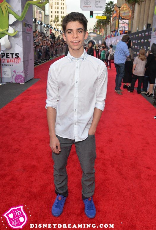 """Cameron Boyce's bright sneaker style at the """"Muppets Most Wanted"""" movie premiere!"""