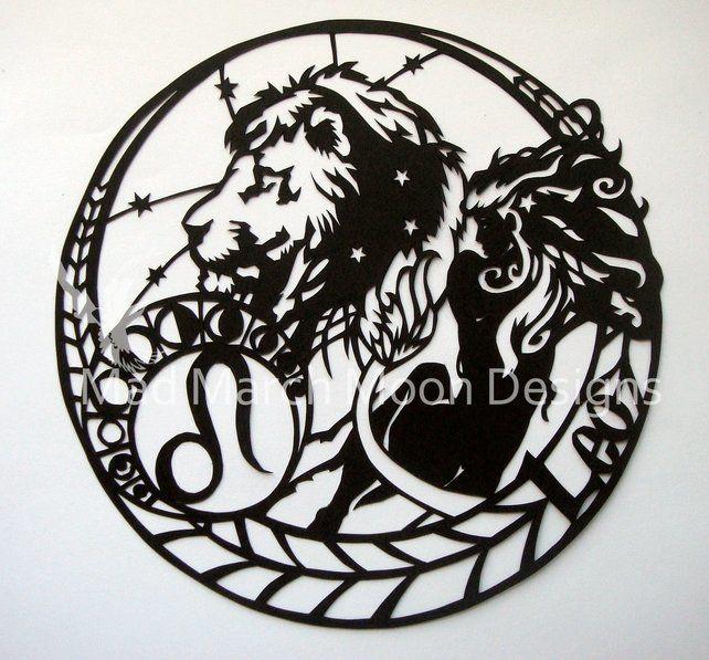 'Leo' Zodiac paper cut £45.00
