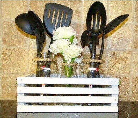 Kitchen Decor Jars: Best 25+ Mason Jar Kitchen Decor Ideas On Pinterest