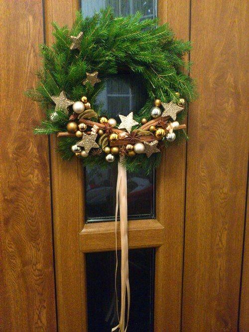 Výsledek obrázku pro adventní věnec na dveře