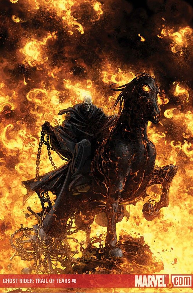 GHOST RIDER: TRAIL OF TEARS #6 (of 6) - Pencils and Cover by Clayton Crain