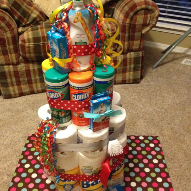 Cleaning cake! Made this for my daycare provider. This is sweet!