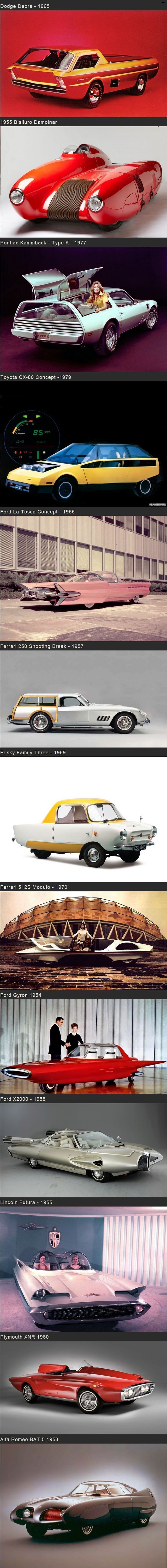 Strange concept car prototypes from the