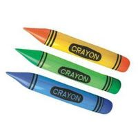 These inflatable crayons would look great in a color or crayon theme classroom!
