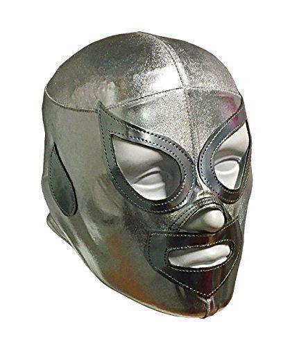 SANTO JR LYCRA Youth Lucha Libre Wrestling Mask  KIDS Costume Wear  SILVER * For more information, visit image link.