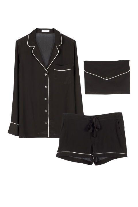 Equipment Lillian Silk Pajama Set, $368; equipmentfr.com