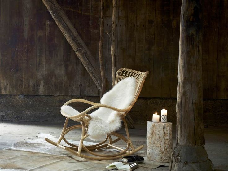 Monet rattan rocking chair