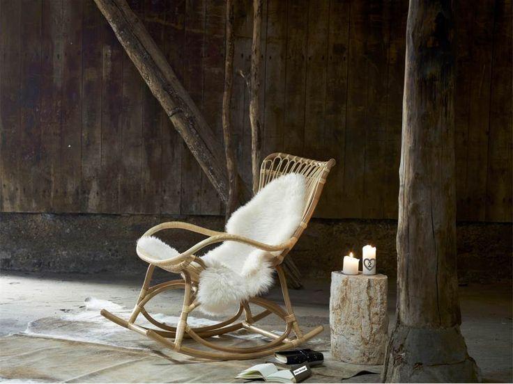 bamboo rattan rocking chair