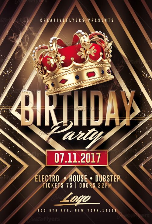 birthday party flyer psd templates design matters pinterest