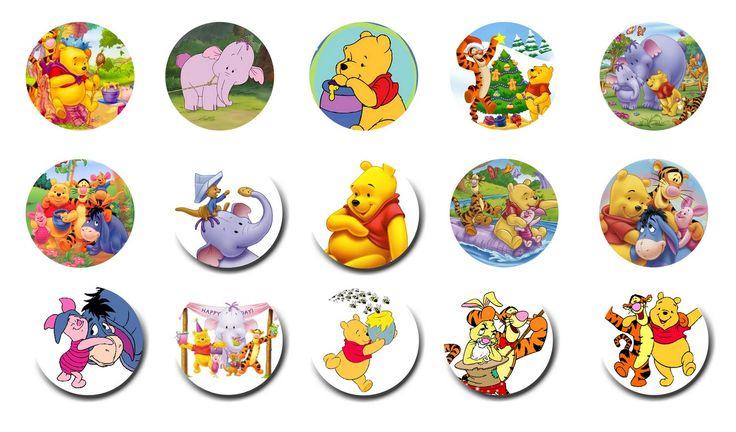 Folie du Jour Bottle Cap Images: Winnie the Pooh - Bottle Cap images