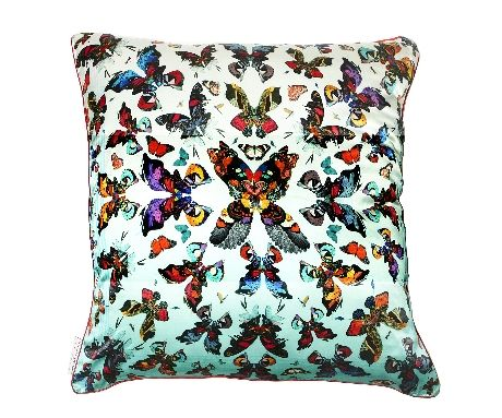 Butterfly Kaleidoscope Silk Cushion Cover