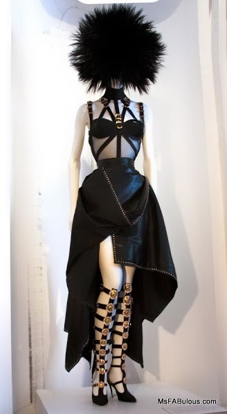 Gianni Versace Bondage Dress - Met Museum Punk:Chaos to Couture (photo by Mariana Leung)