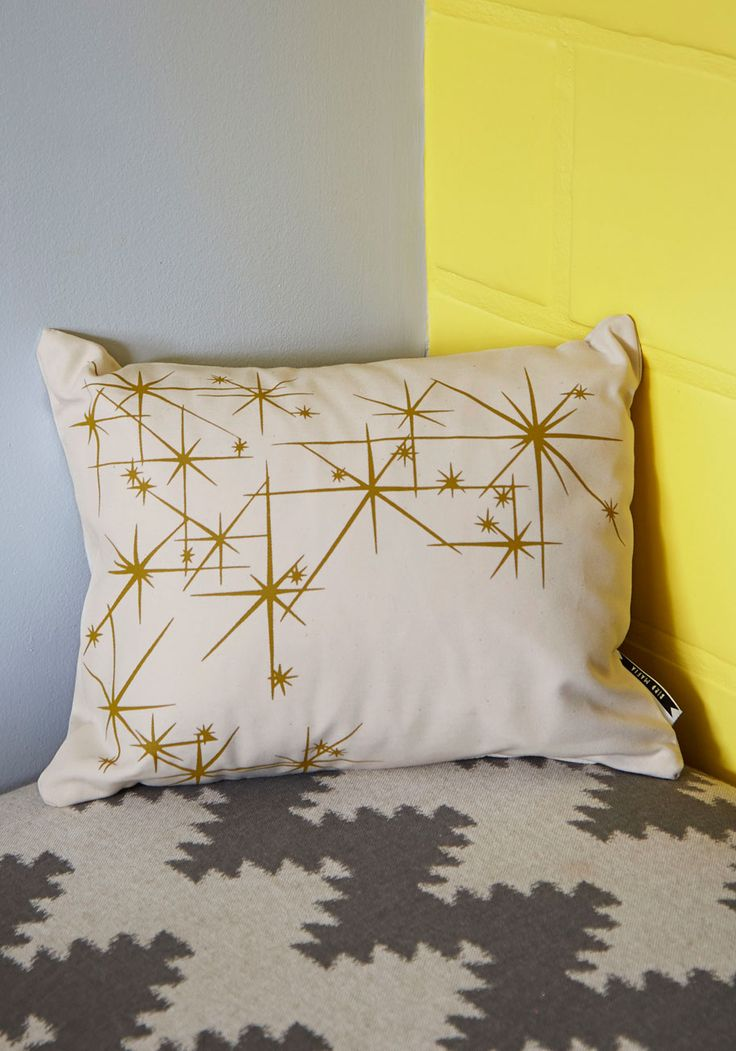 Adorable Adornment Pillow in Starbursts. Spruce up your decor with this neutral accent pillow! #cream #modcloth