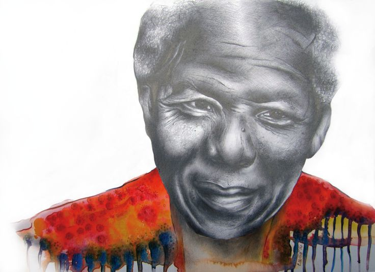 """""""Mighty Madiba"""" 2014 """"As we let our own light shine, we unconsciously give other people permission to do the same.""""  ― Nelson Mandela ―"""