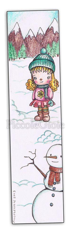 #bookmark #piccolegioie #drawings #winter #kawaii #snowman #snow