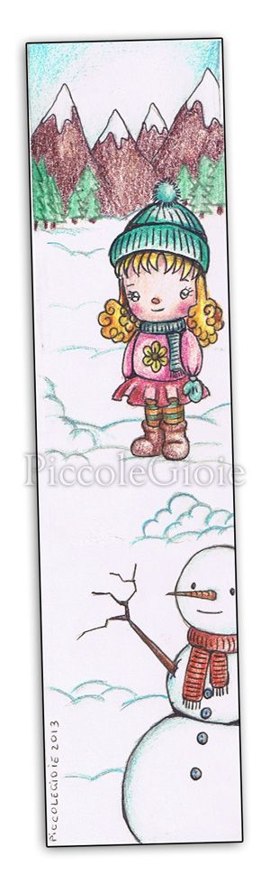 #bookmark #piccolegioie #drawings #winter #kawaii #snowman #snow