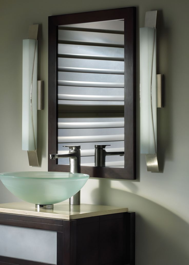 Pictures In Gallery The Dover Linear Bath Bar from LBL Lighting has the perfect balance of glass and metal and can be mounted either horizontally or vertically
