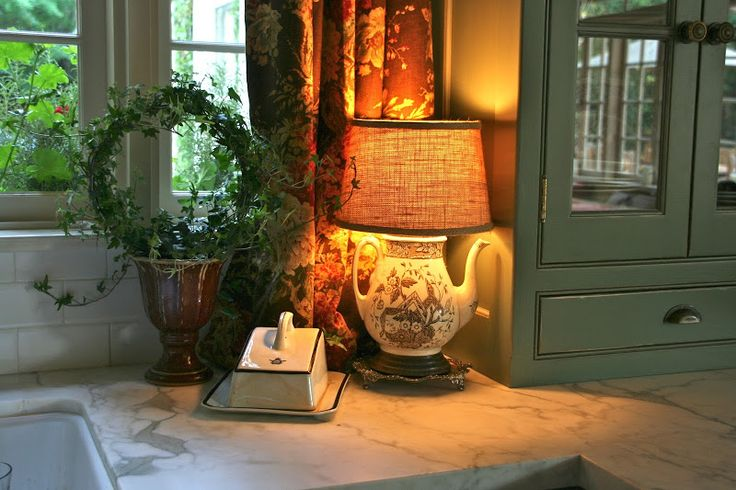 Countertop vignette via savvy southern style my favorite for Southern style kitchen design