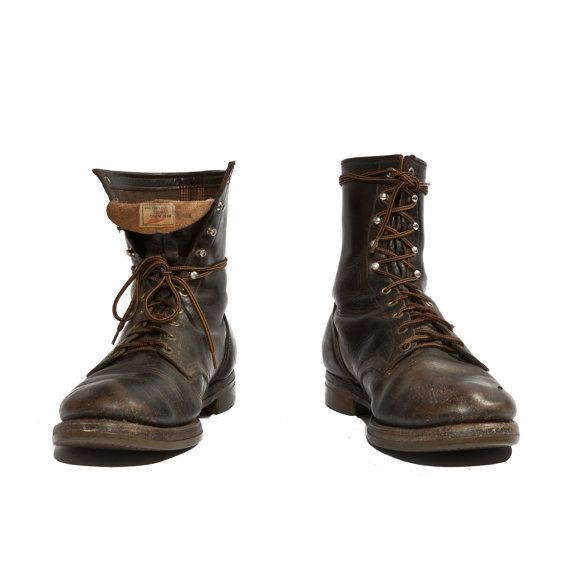 Vintage Red Wing Boots Dark Brown Leather by RabbitHouseVintage, $325.00