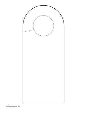 It's just a picture of Irresistible Free Printable Door Hanger Template