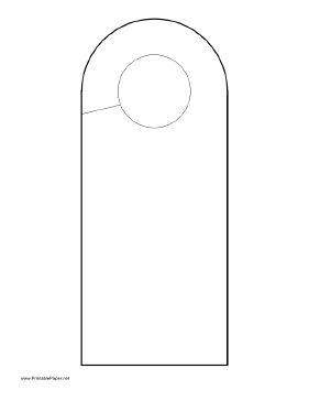 Rounded Doorhanger Paper (printable)
