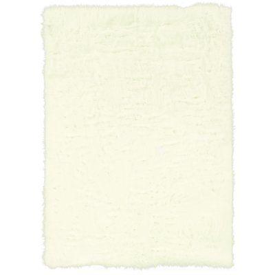 "House of Hampton Garnet Faux Sheepskin White Area Rug Rug Size: 1'6"" x 2'5"""