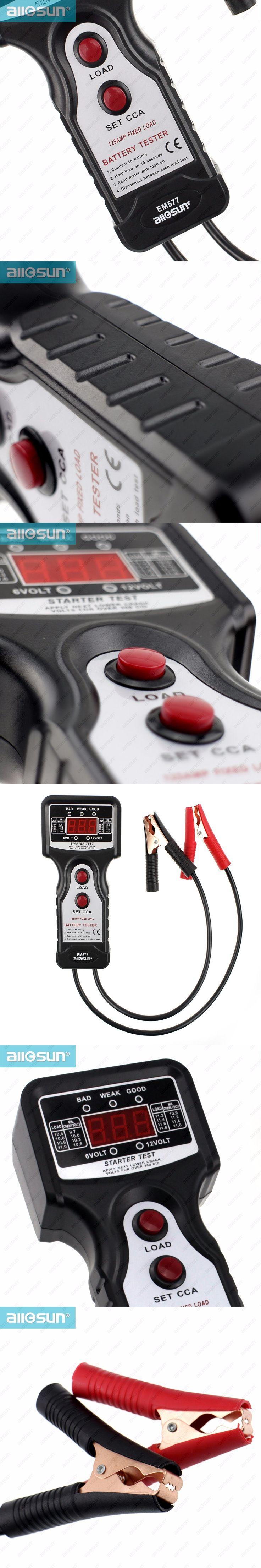 Digital Automotive Battery Tester Analyzer Battery Diagnostic Tools starter motor load voltage test Professional All-Sun EM577