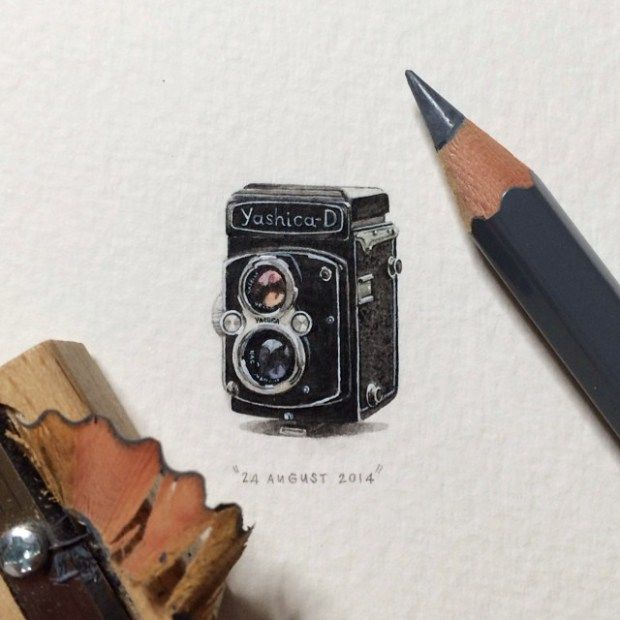 Best A R T Images On Pinterest Artists Drawings And Paintings - Artist creates miniature paintings everyday entire year
