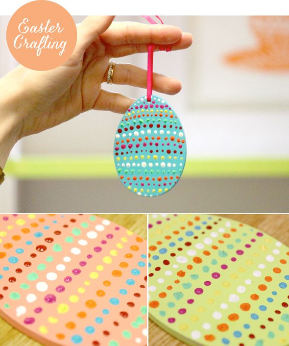 #Easter #Craft, Hanging Wooden Egg #Decorations. Read more here - http://leaffdesign.blogspot.co.uk/2016/02/easter-craft-project-hanging-wooden.html