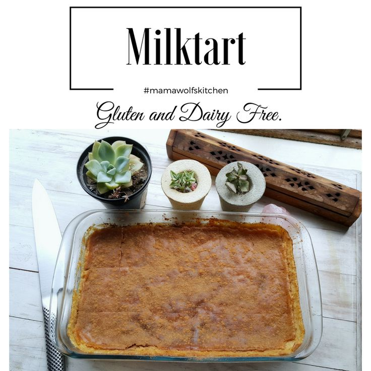 "Melktert, Afrikaans for ""milk tart"", is a South African dessert, and firm favourite. A beautiful creamy milk tart with a dusting of cinnamon to complete it."