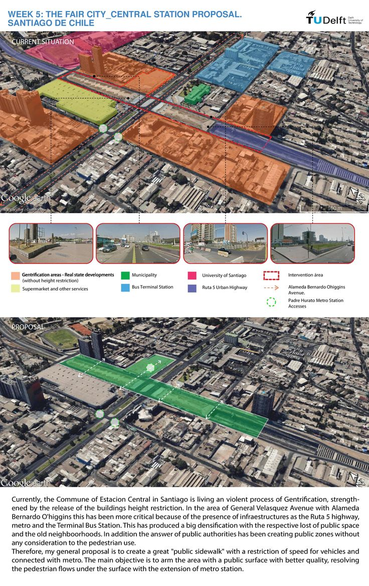 Week 5: A proposal to recover the pedestrian and public use in Estacion Central.