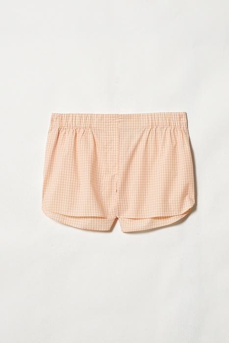 cos peach checked pyjama shorts