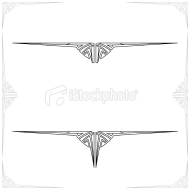 Art Nouveau Letter and Book Ornaments Royalty Free Stock Vector Art Illustration