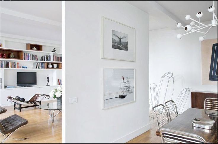 Dividing open floor plan with wall partition