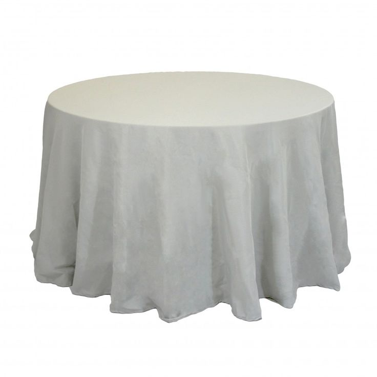 108 round table linens gray 403993 1120