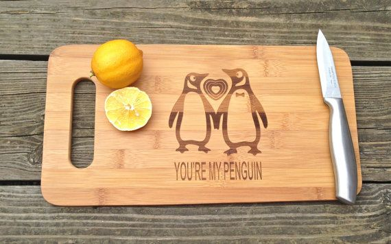 Your My Penguin ENGRAVED CUTTING BOARD 14 by CreativeButterflyXOX