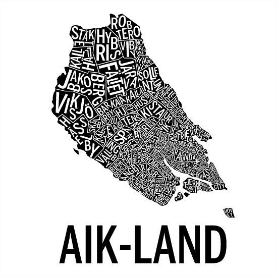 AIK-land i färgen svart