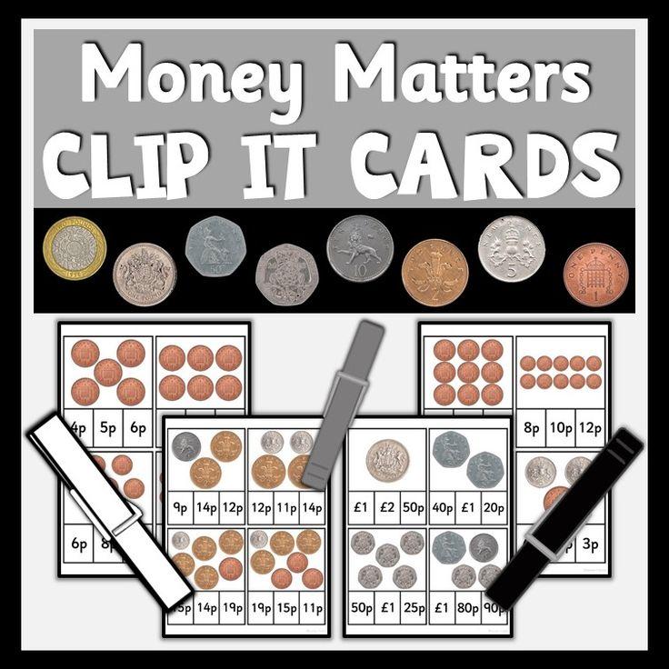 Money Matters Clip It Cards SEN Toolkit Money math
