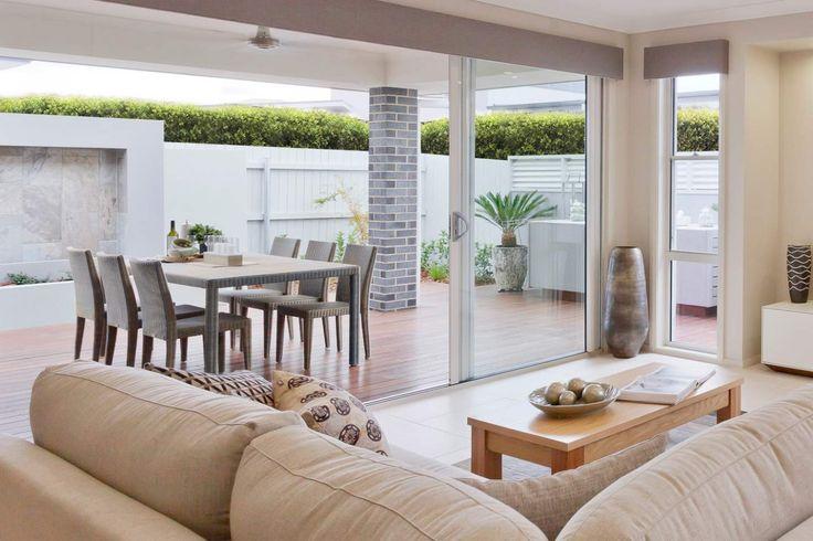 Beautiful indoor / outdoor living in the Sandalford by McDonald Jones Homes. Exclusive to Canberra. On display at 6 Bonarba Link, Googong NSW 2620. #indooroutdoor #Alfresco #living #lounge #naturallight #mcdonaldjones #Canberra #ACT