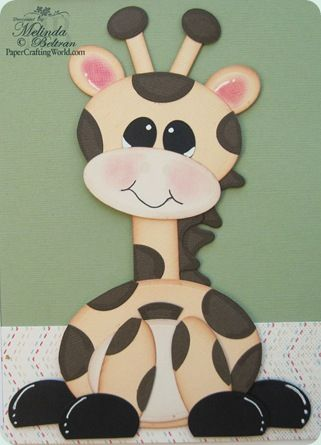 Giraffe made using Spellbinder dies - Scalloped Ovals, Scalloped Heart and Classic Ovals Dies